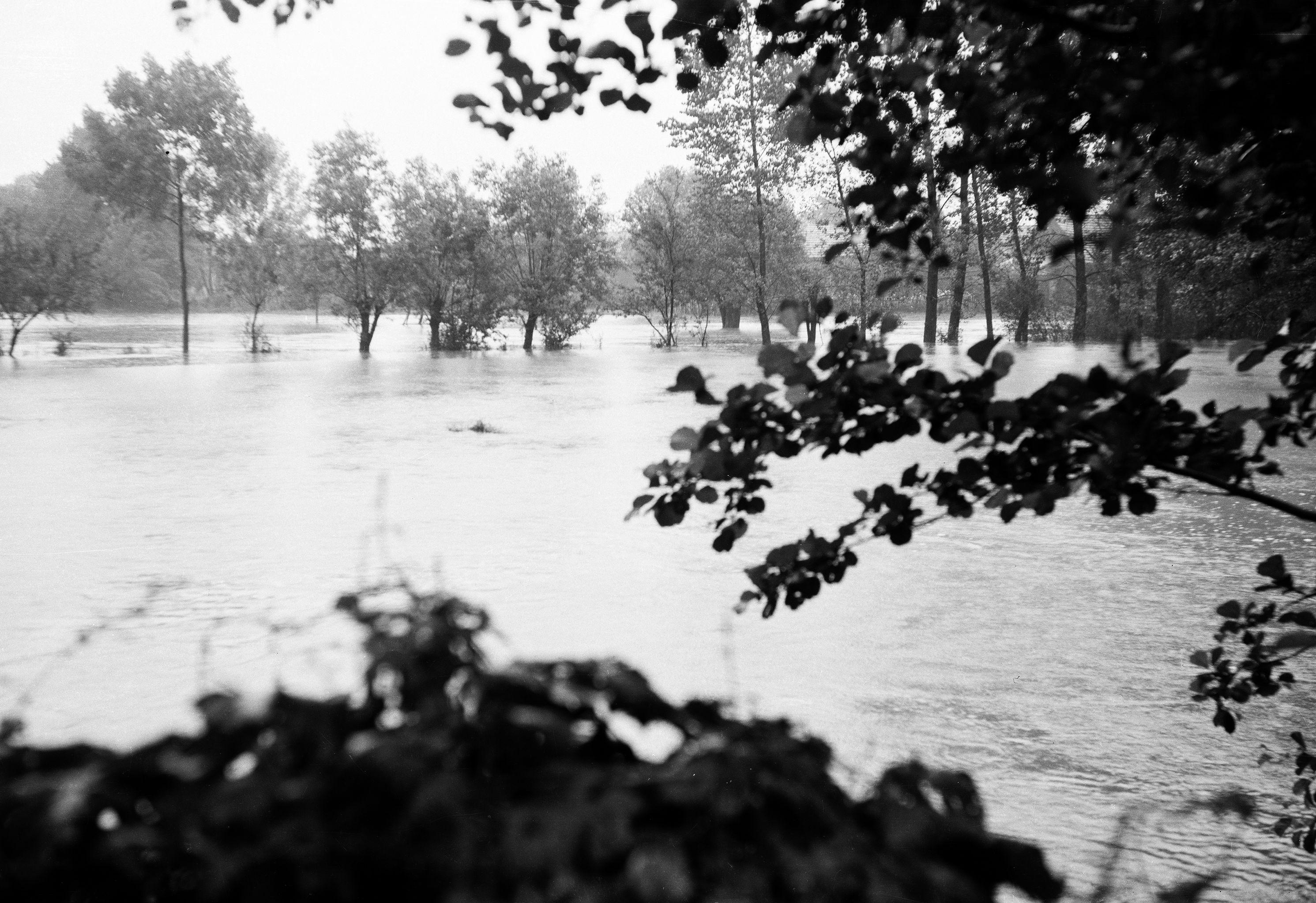 Powódź, Brzózka, Dolny Śląsk, lata 80. XX w.