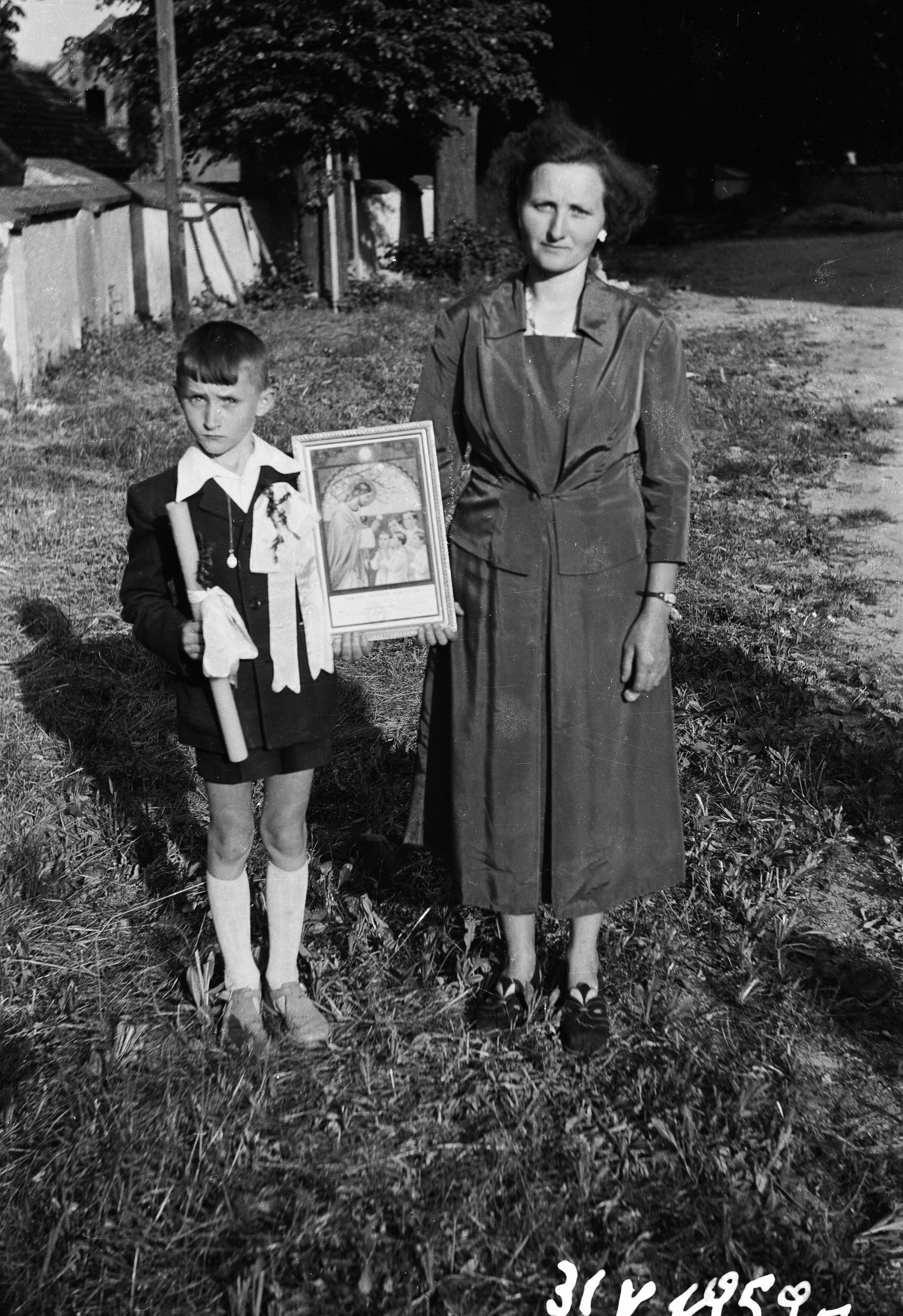 Pierwsza Komunia Święta, Głębowice, Dolny Śląsk, 31 V 1959 r.