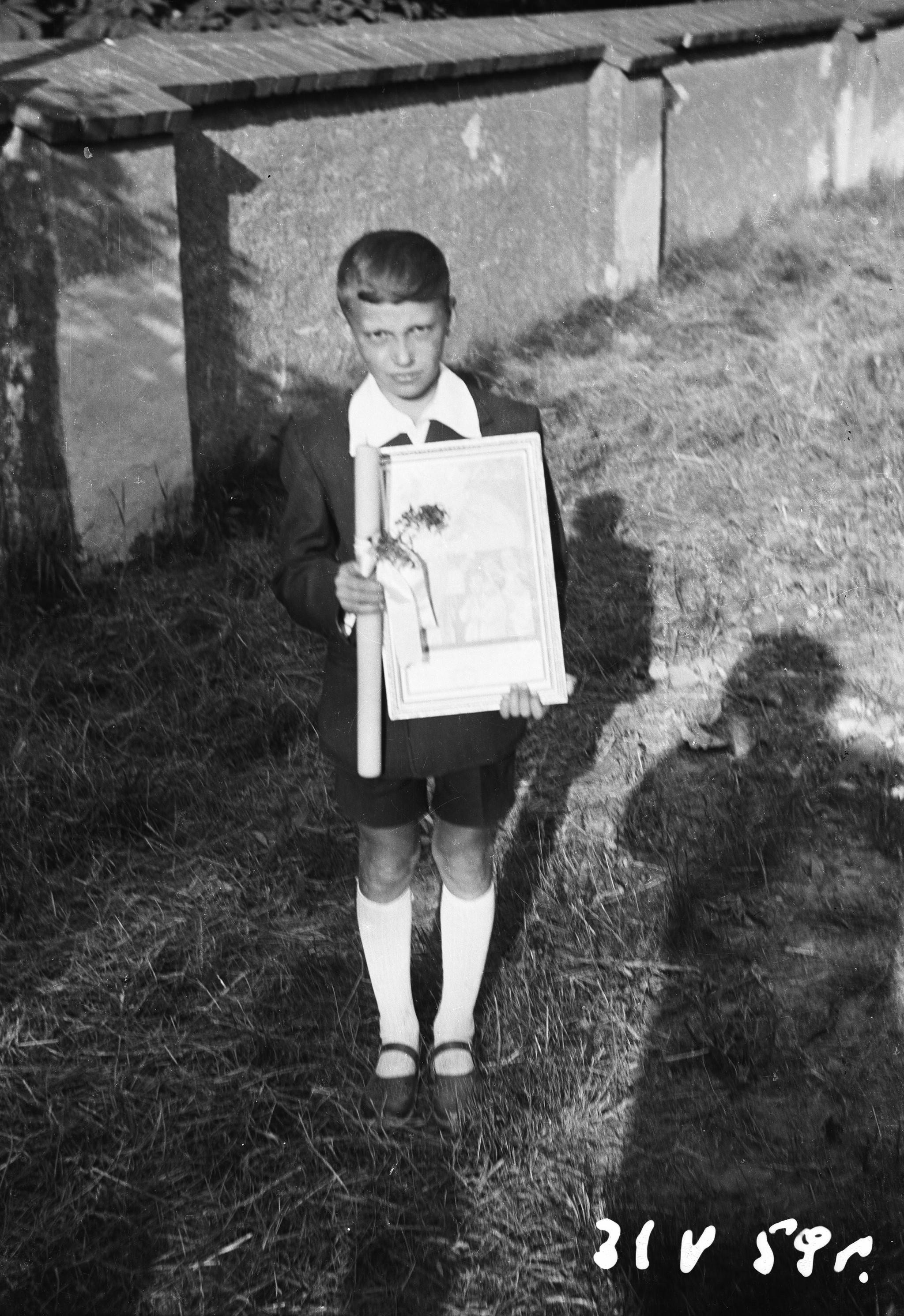 Pamiątka Pierwszej Komunii Świętej, Głębowice, Dolny Śląsk, 31 V 1959 r.