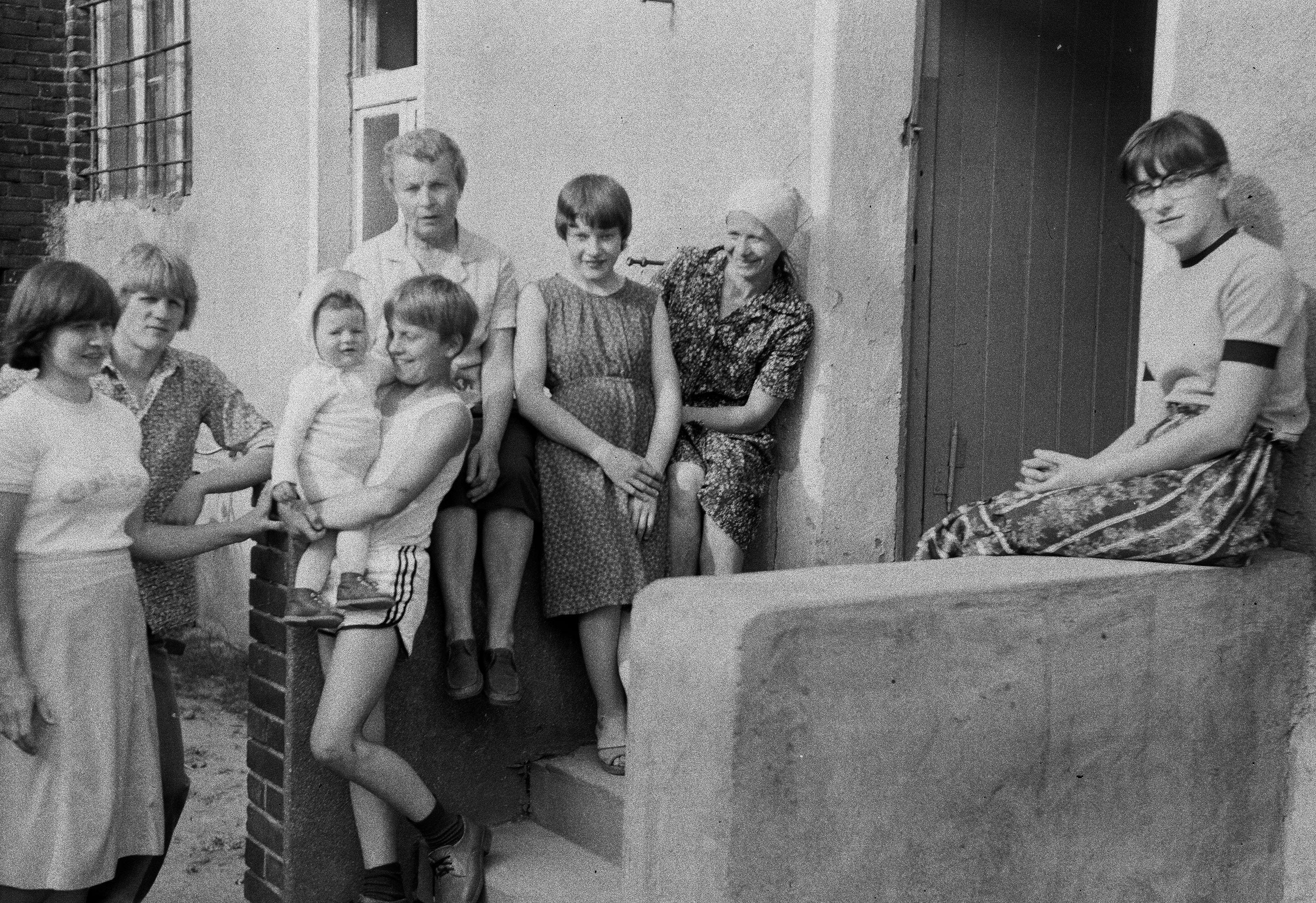 Rodzina Czyżowiczów z Panią Kępczyńską, Brzózka, Dolny Śląsk, lata 80. XX w.