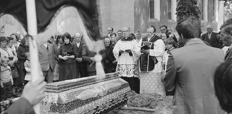 Pogrzeb Jana Kończugi, Bielkowo koło Szczecina, lata 80. XX w.