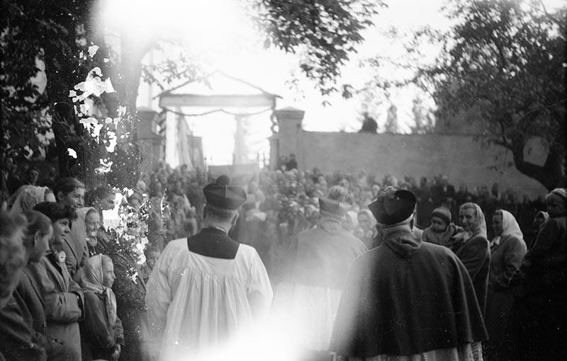 Wizytacja biskupa Bolesława Kominka, Dolny Śląsk, 05.10. 1959 r.