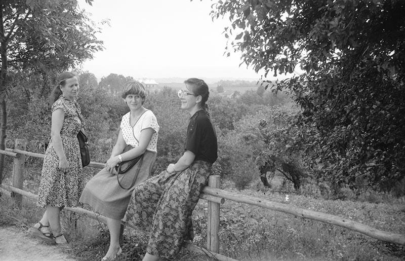 Zdjęcie trzech kobiet, Dolny Śląsk, 2. poł. XX w.