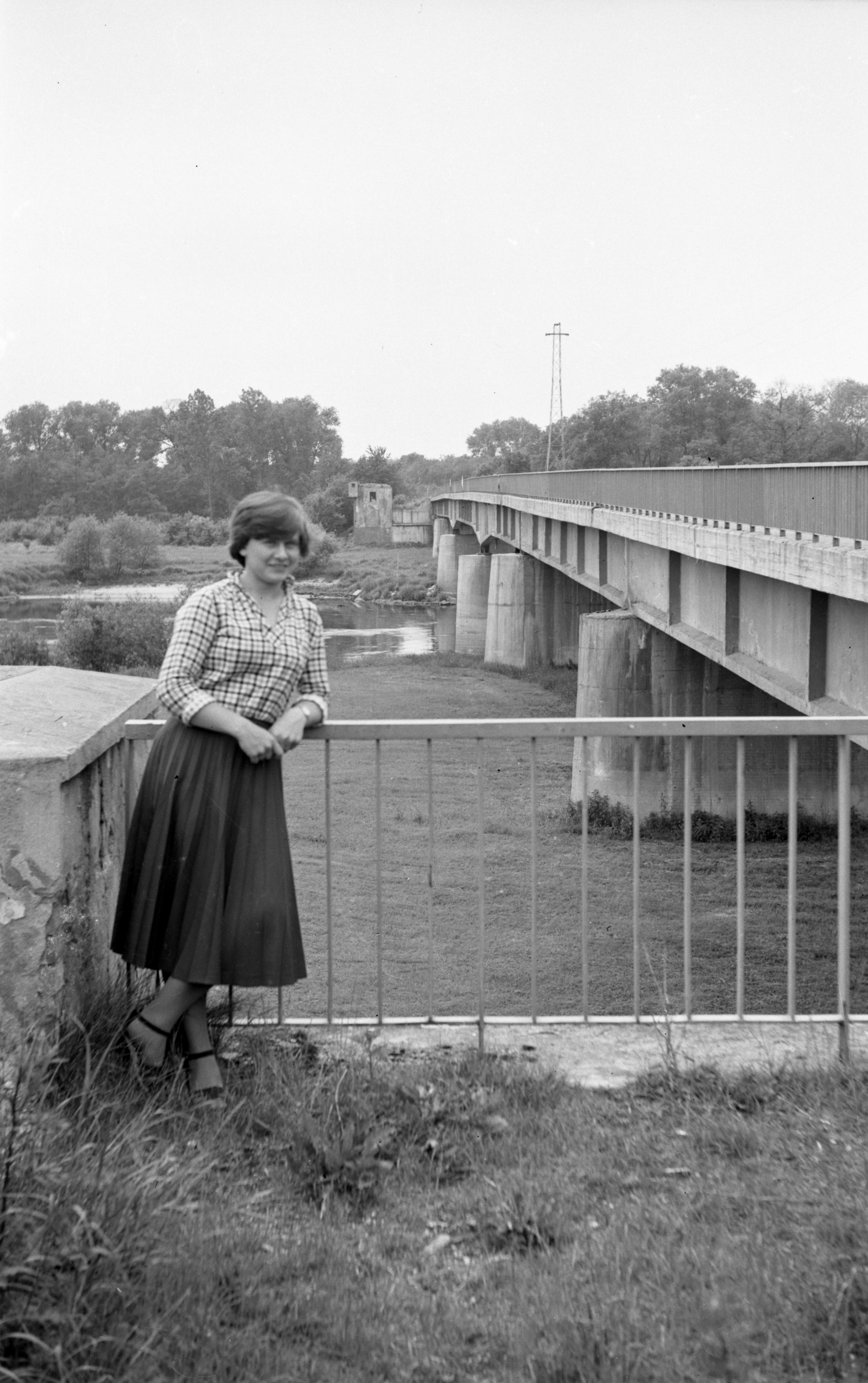Widok na Odrę, Lubiąż, Dolny Śląsk, lata 80. XX w.