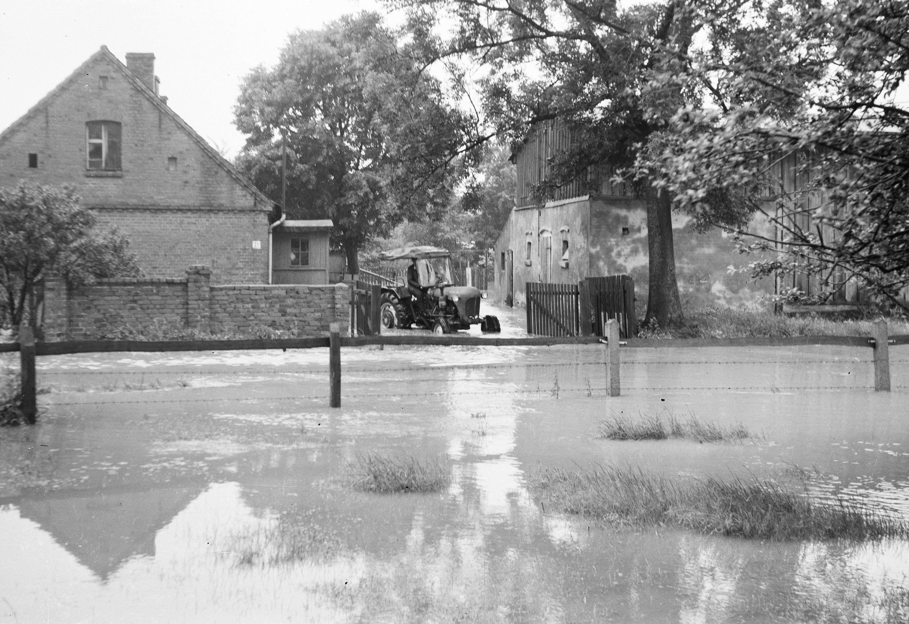 Powódź, Stryjno, Dolny Śląsk, lata 80. XX w.