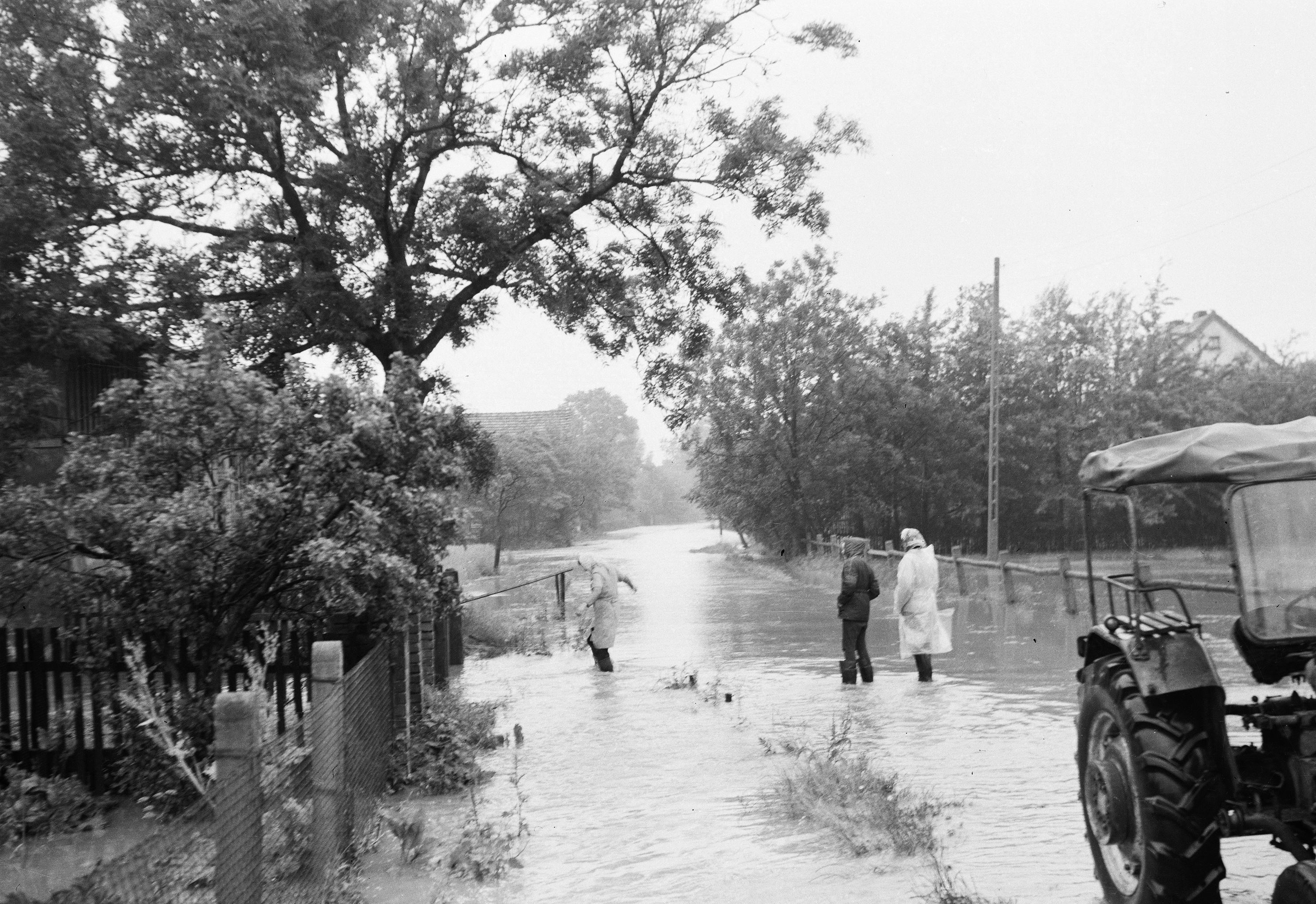 Powódź, Stryjno, Dolny Śląsk, lata 50. XX w.