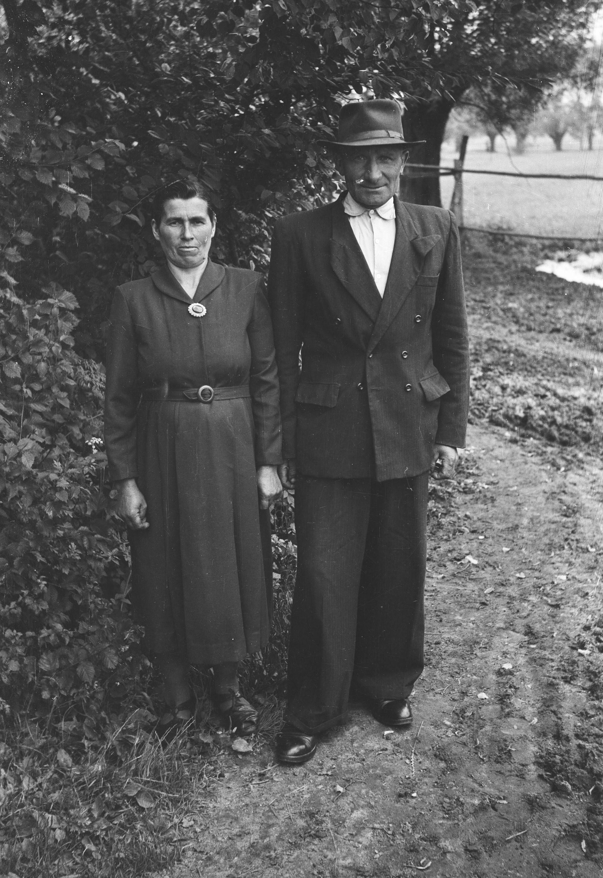 Małżeństwo Furyków, Turzany, Dolny Śląsk, lata 50. XX w.