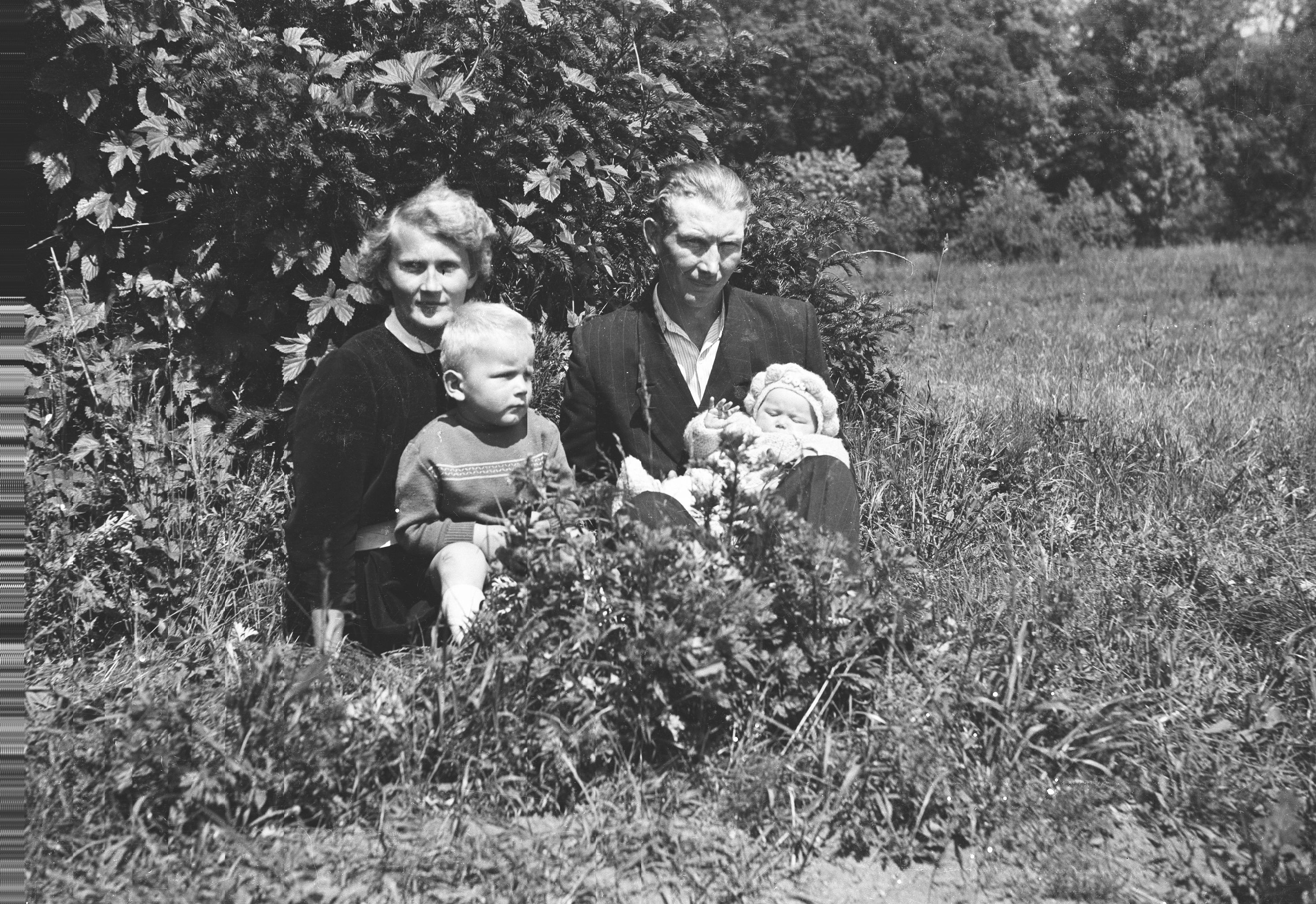 Rodzina Raków, Głębowice, Dolny Śląsk, lata 50. XX w.