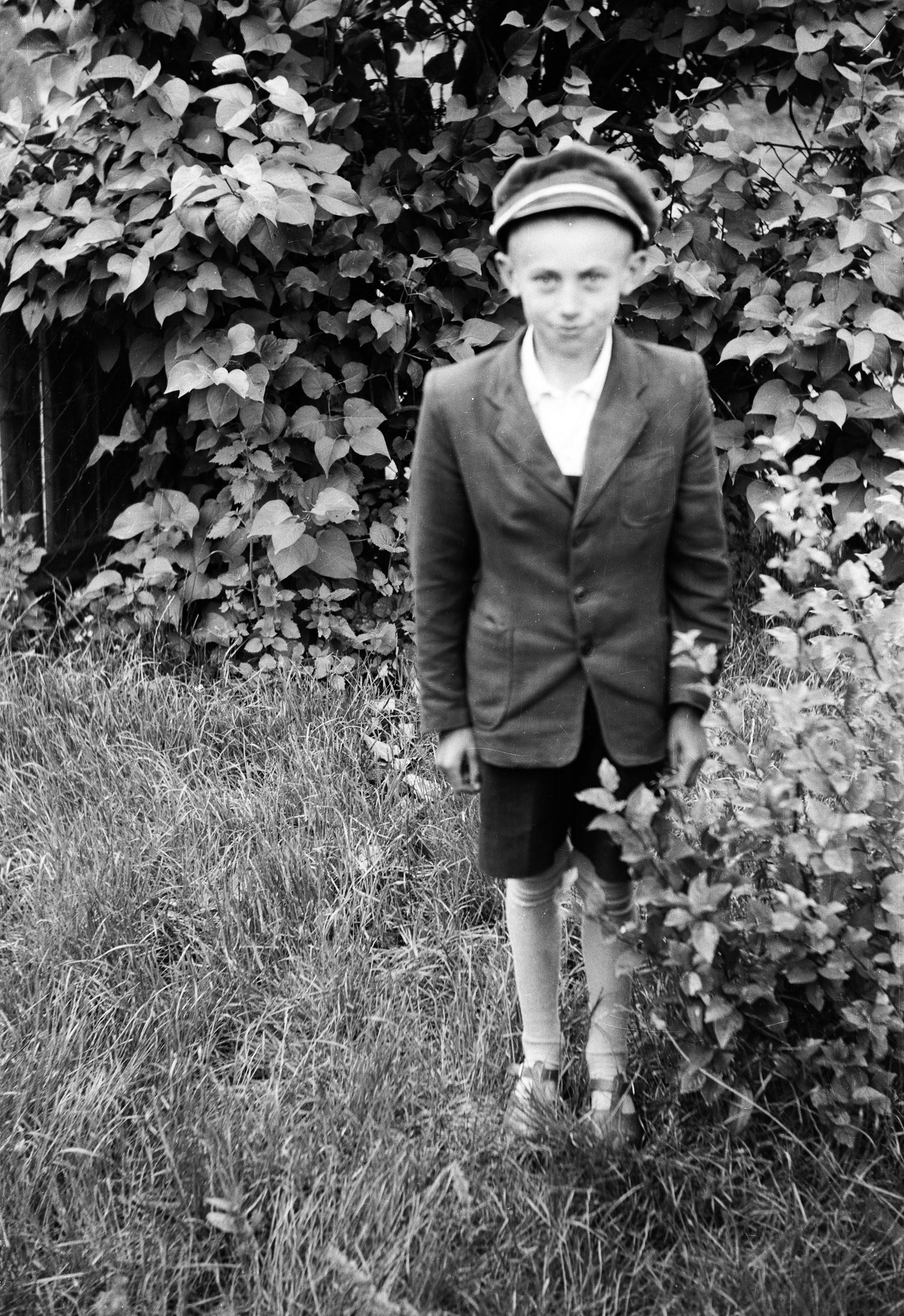 Chłopiec przy krzakach, Dolny Śląsk, 2. poł. XX w.