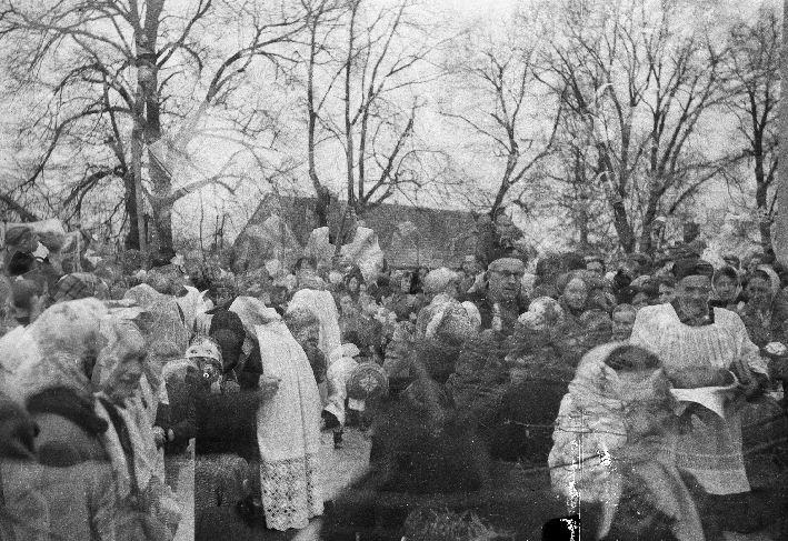 Poświęcenie kościoła w Smogonowie Wielkim, Dolny Śląsk, 1959 r.