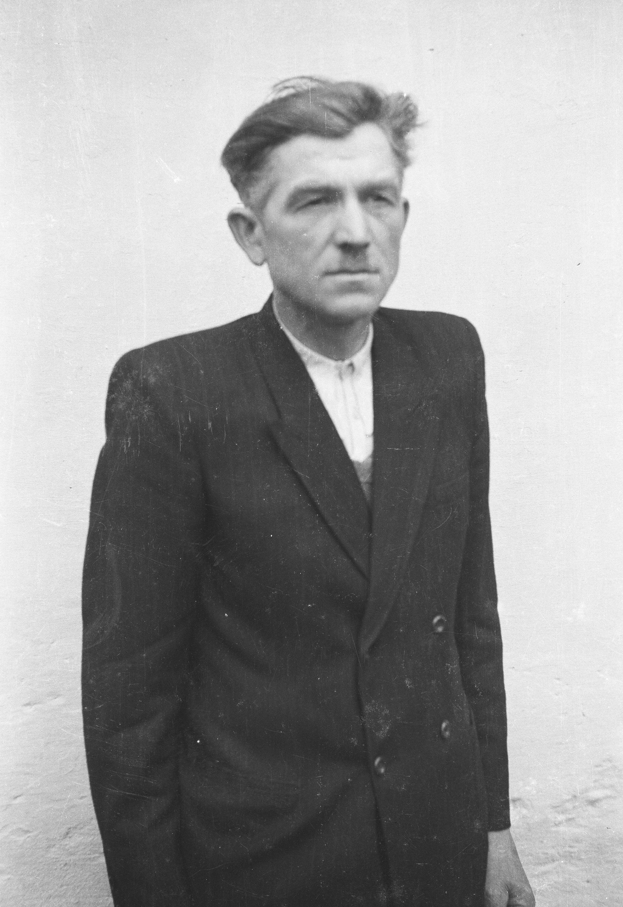 Stolarz z Głębowic, Dolny Śląsk, lata 50. XX w.