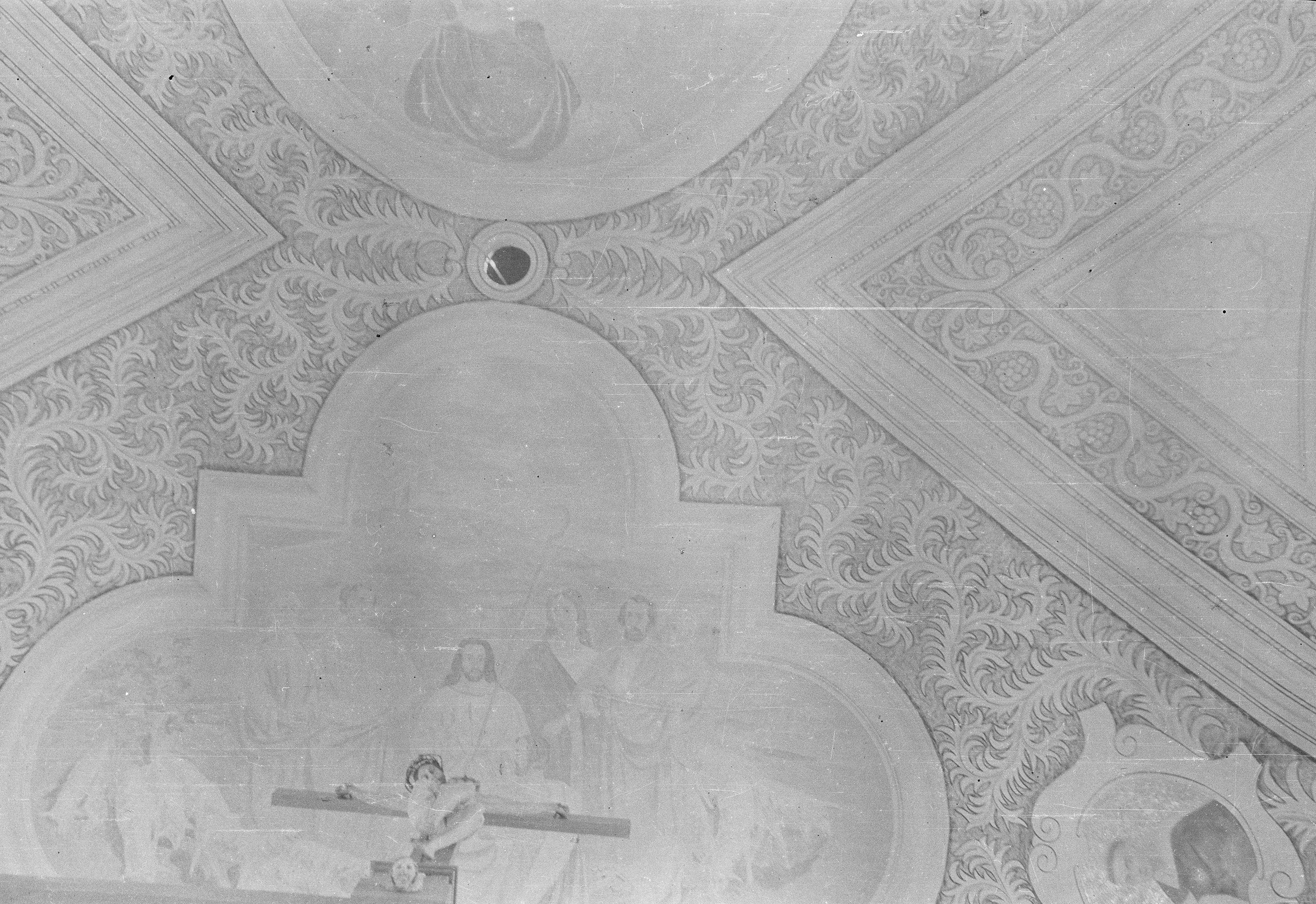 Sklepienie kościoła w Smogonowie Wielkim, Dolny Śląsk, lata 50. XX w.