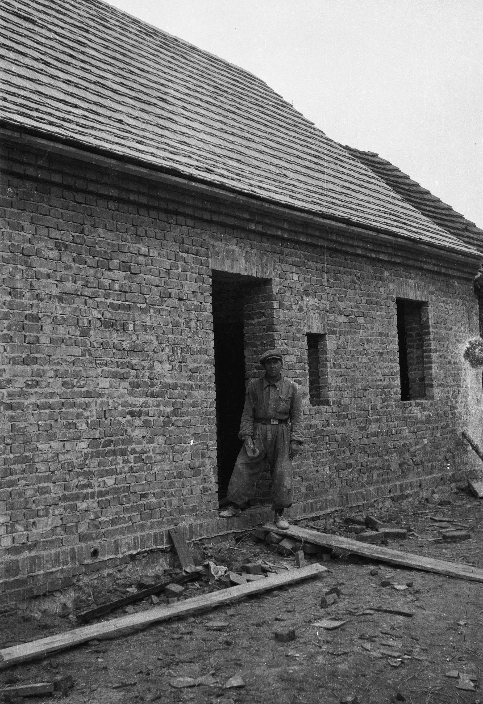 Dom dla repatriantów, Brzózka, Dolny Śląsk, lata 50. XX w.