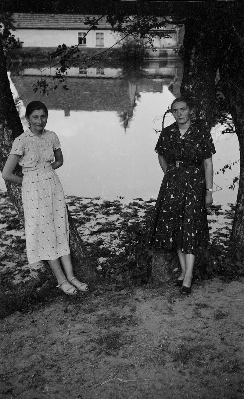 Nad stawem, okolice Wińska, Dolny Śląsk, koniec lat 50. XX w.