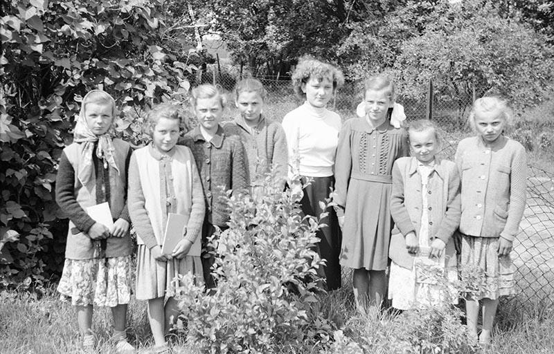 Szkoła w Głębowicach, Dolny Śląsk, lata 50. XX w.