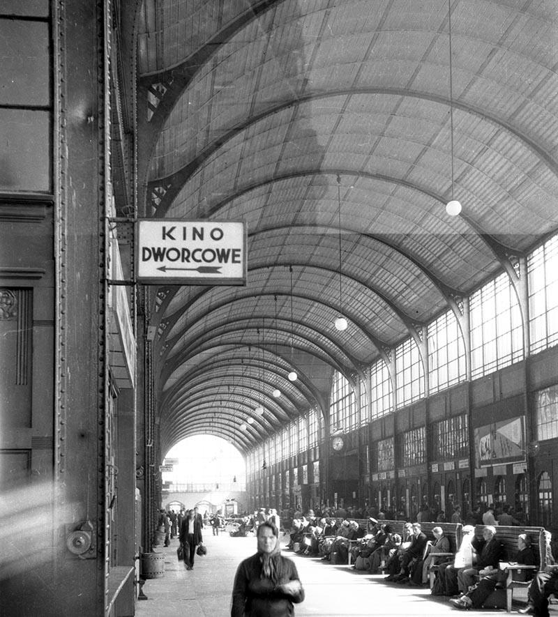Dworzec PKP, Wrocław, Dolny Śląsk, koniec lat 50. XX w.