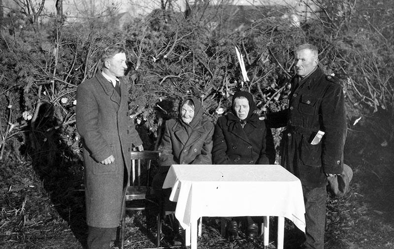 Rodzina Czyżowiczów, Brzózka, Dolny Śląsk, koniec lat 50. XX w.