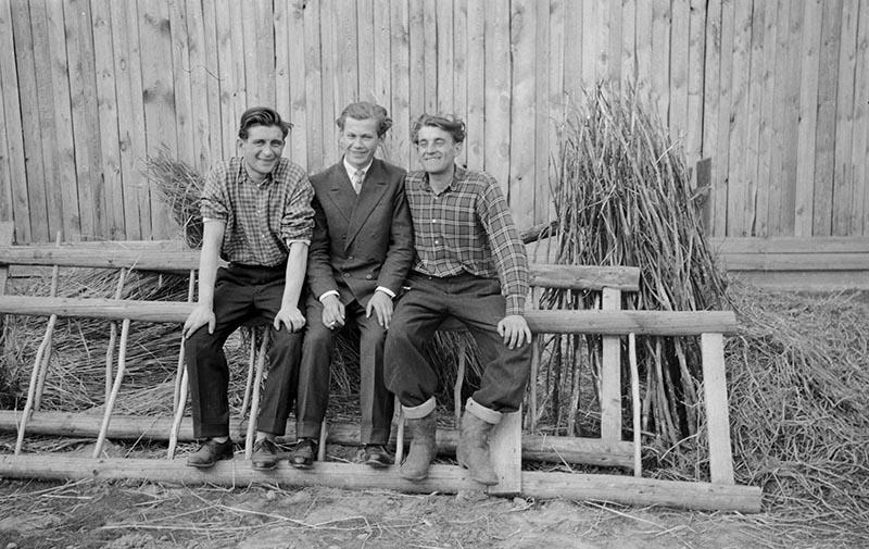 Trzech mężczyzn na drabinie, Dolny Śląsk, 2. poł. XX w.