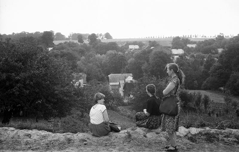 Widok na wieś z góry, Dolny Śląsk, 2. poł. XX w.