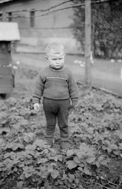 Zdjęcie małego chłopca, Dolny Śląsk, 2. poł. XX w.