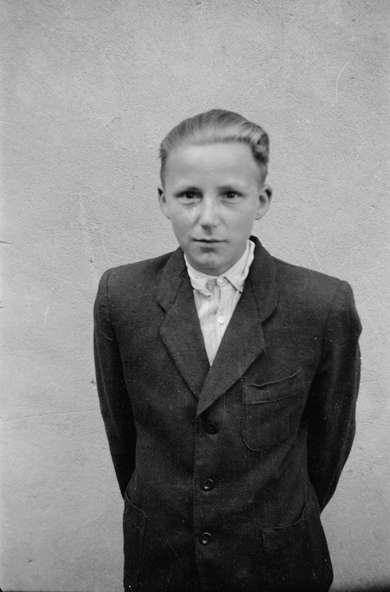 Portret chłopca, Dolny Śląsk, lata 50. XX w.
