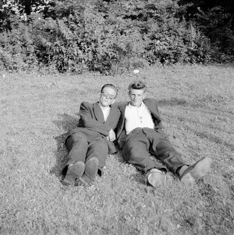 Leniuchowanie na trawie, Dolny Śląsk, 2. poł. XX w.