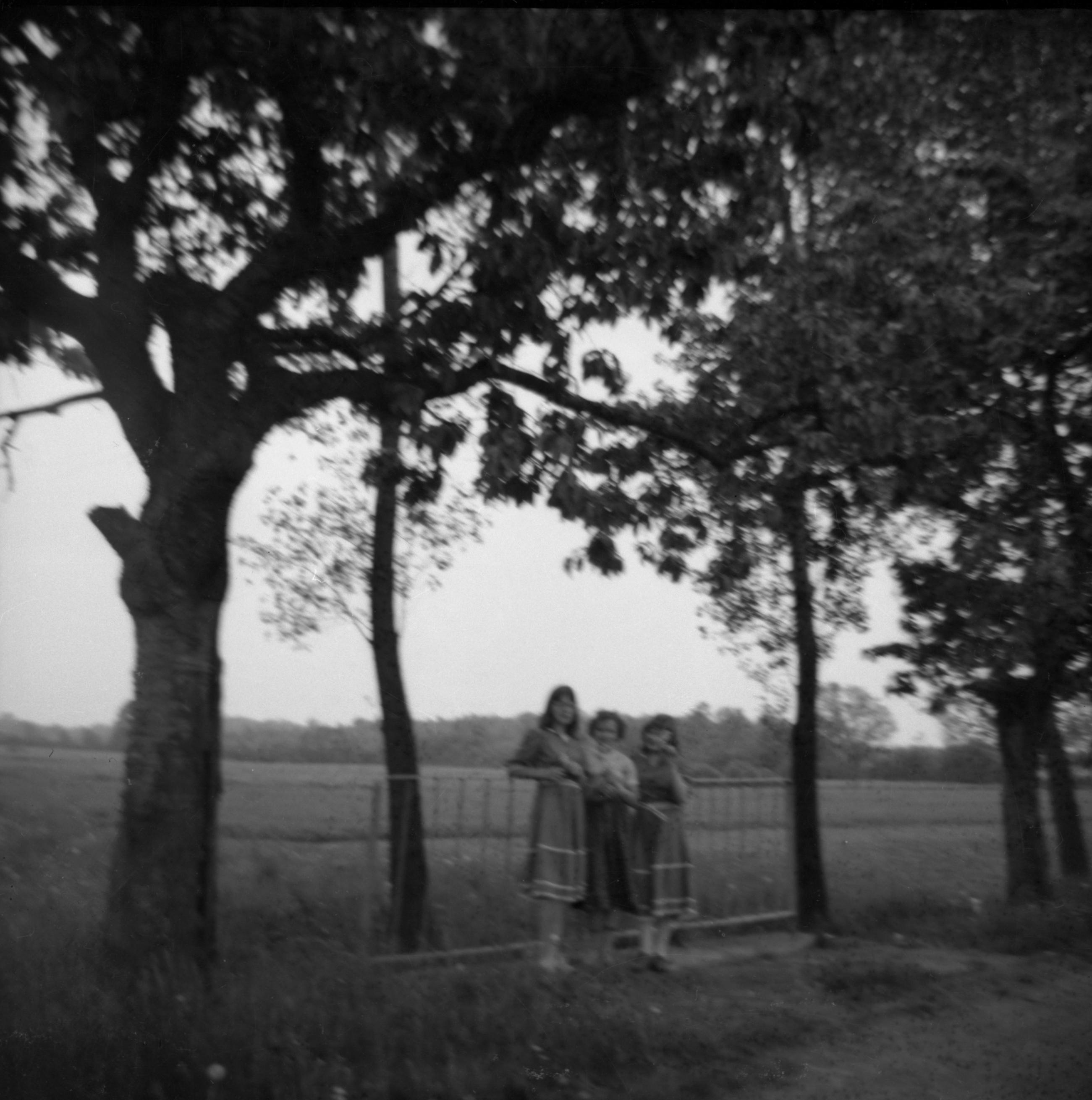 Zdjęcie dziewcząt, Brzózka, Dolny Śląsk, lata 80. XX w.