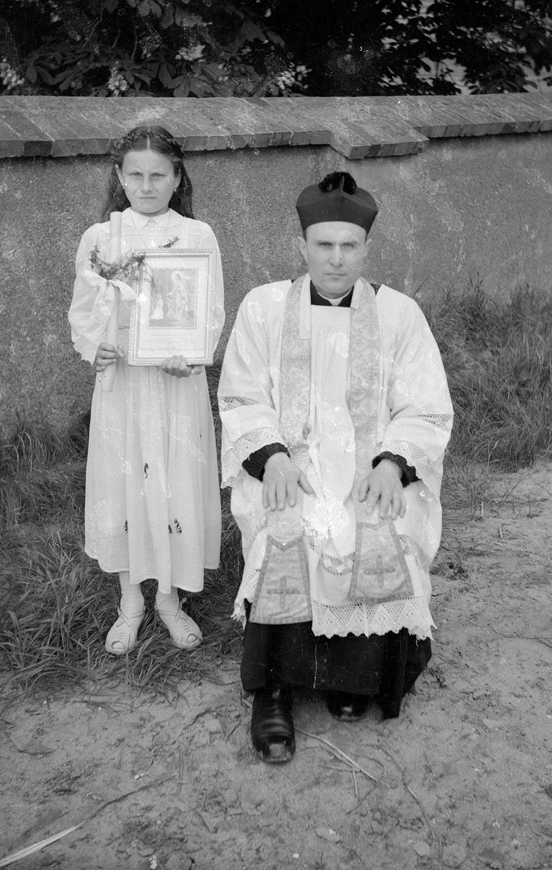 Pierwsza Komunia Święta, Głębowice, lata 50. XX w.