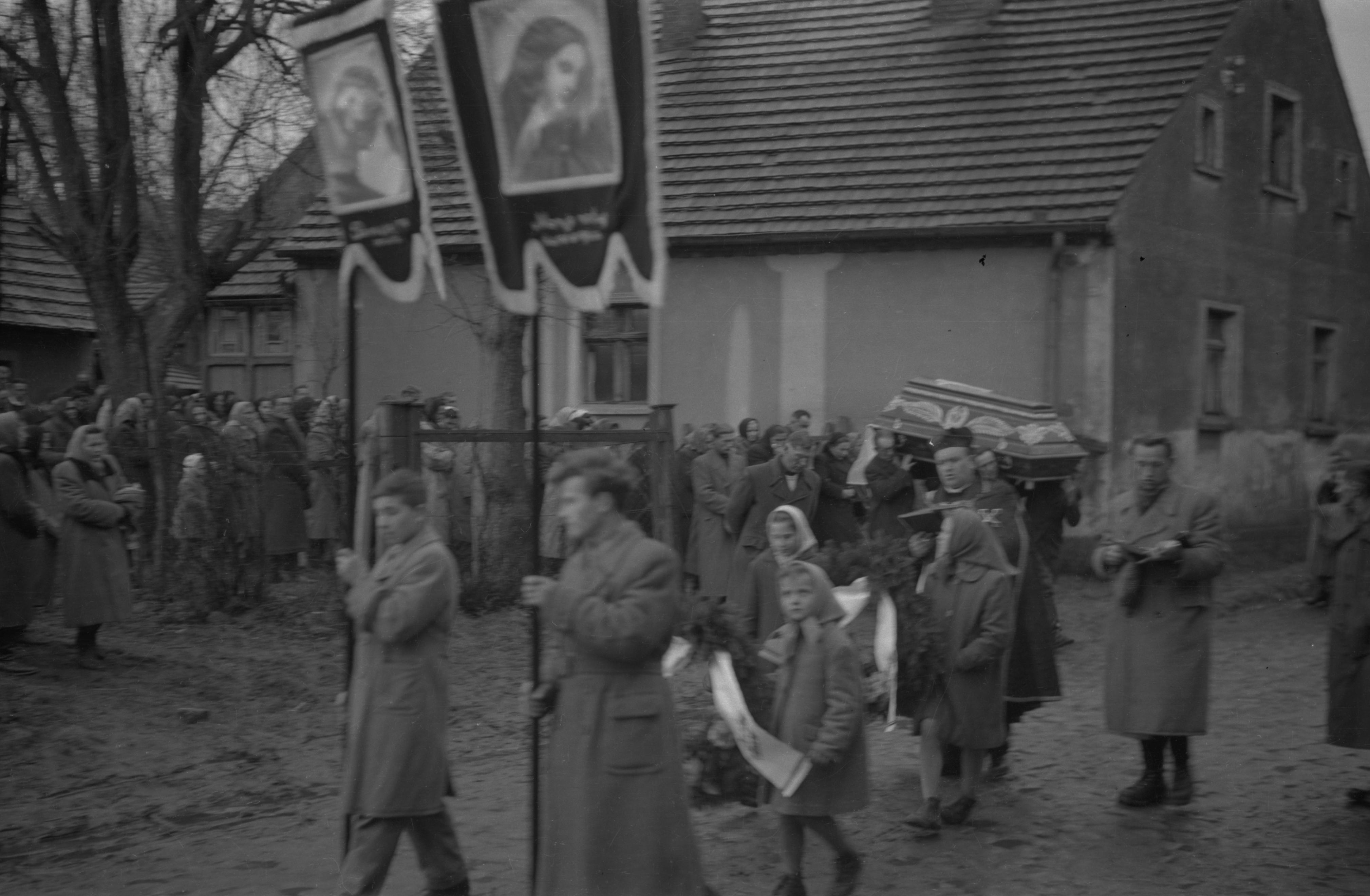 Kondukt żałobny, Dolny Śląsk, 2. poł. XX w.
