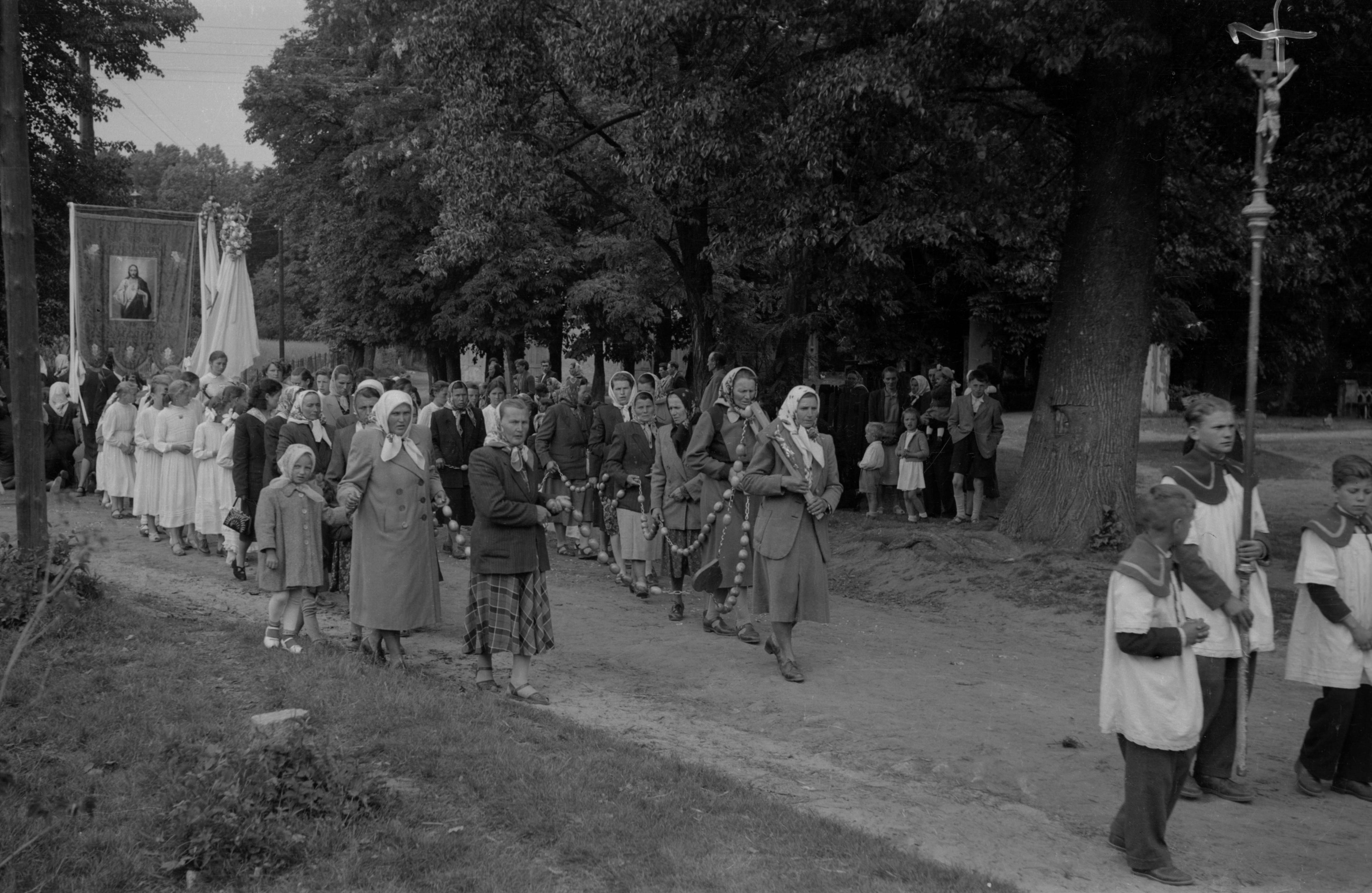 Zdjęcie z procesji, Dolny Śląsk, 2. poł. XX w.